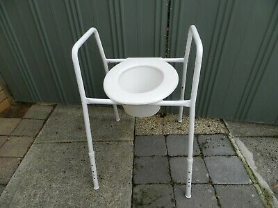 over toilet frame & seat (height adjustable )