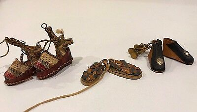Huaraches Sandals Leather #L503 1:12 Mexican Import Shoes Dollhouse Miniature