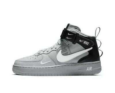 save off fa7f5 2f95d Nike Air Force 1 Mid LV8 GS Youth AV3803-001 Grey UK 4.5 EU 37.5