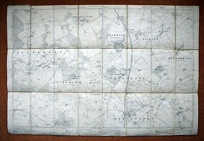 """Beds & Bucks - 6"""" To 1 Mile Ordnance Survey Map, 1901/2 Second Edition"""