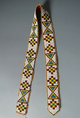 Fine Old Native American Indian Plains beaded belt