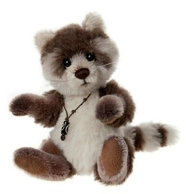 SPECIAL OFFER! Charlie Bears Minimo PITTER PATTER Raccoon (RRP £75)