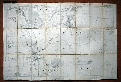 """Bedfordshire - 6"""" To 1 Mile Ordnance Survey Map, Second Edition 1901/2"""