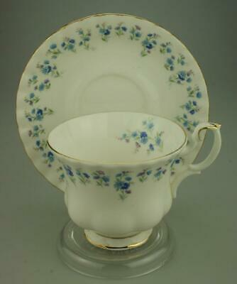 Royal Albert Duo Footed Cup & Saucer Set in Memory Lane Pattern Retired KC400