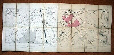 """Beds & Bucks - 6"""" To 1 Mile Ordnance Survey Map, First Edition -1887/8"""