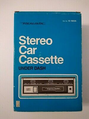 New in Box Realistic Stereo Car Cassette Deck Tape Player 12-1803 Unused NOS