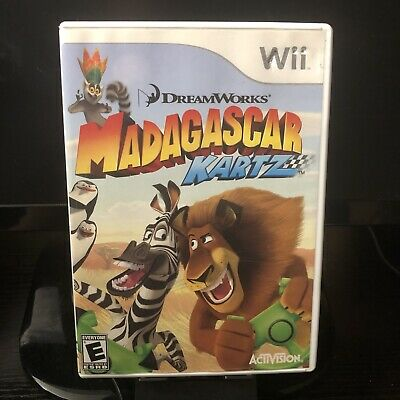 Replacement Ds Case And Manual Only No Game! Madagascar Kartz