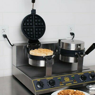 Double Non-Stick Electric Belgium Waffle Maker with Timer - 120V