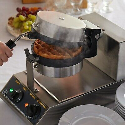 Single Non-Stick Electric Belgium Waffle Maker with Timer - 120V