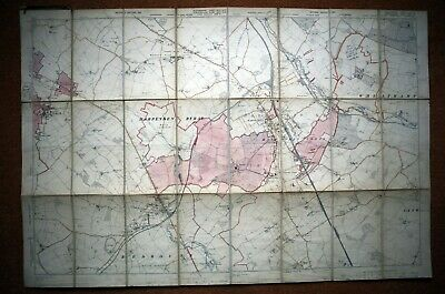 """Beds & Herts - 6"""" To 1 Mile Ordnance Survey Map, Second Edition 1901 - Harpenden"""