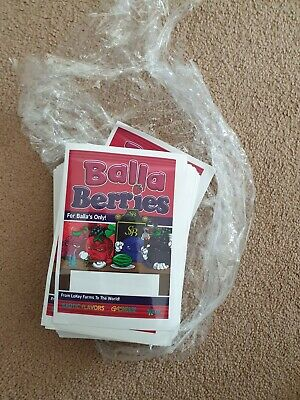 100x Balla Berries Mylar Bag LABELS ONLY (3.5g) Cali Tin