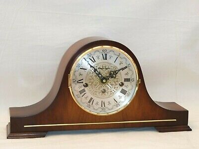 Kieninger 8 Day Hermle Real Rich Walnut Westminster Chime Napoleon Mantle Clock