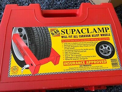 Sas Supaclamp Wheel Lock Ideal For Caravan With Case