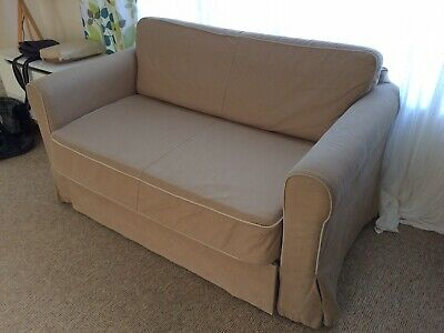 Swell Ikea Hagalund Two Seat Sofa Bed Beige 120 00 Picclick Uk Caraccident5 Cool Chair Designs And Ideas Caraccident5Info
