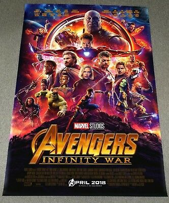 Marvel Avengers INFINITY WAR 2018 Orig 27x40 Double Sided Int'l Movie Poster A
