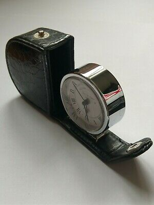 Vintage Elegant Fold Away- Roger Lascelles Pocket/Travel Alarm Clock- Black Case