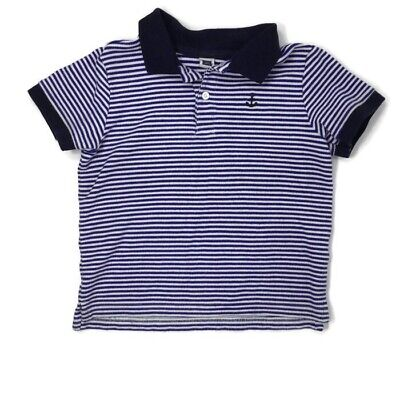 Janie And Jack 3T Navy Stripe Polo Shirt Vguc
