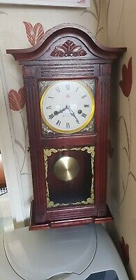 Vintage 555 31 Day Chime Winding Pendulum Wall Clock
