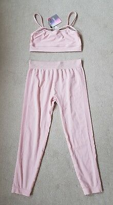 edc45298d254aa Missguided BNWT Activewear light pink seamless cropped leggings matching  bra 6-8