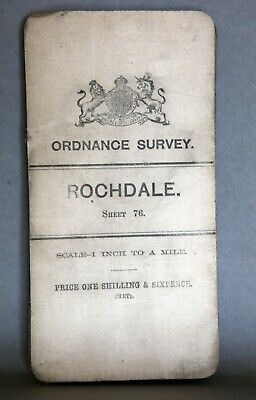 "Rochdale 1"" To 1 Mile Ordnance Survey Folded Map Published 1903"