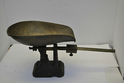 Antique late 1800's Fairbanks Cast Iron & Brass Balance Slide Counter Scale