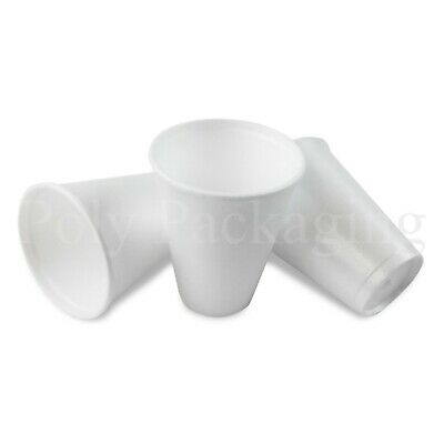 100 x SMALL 7oz Polystyrene Insulated Foam Cups Disposable Poly Tea/Coffee