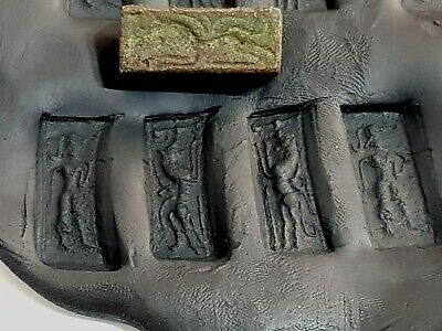 Exeptional Extremely Rare Ancient Bronze 4 Side Seal Fantastic.26,1 Gr.28 Mm