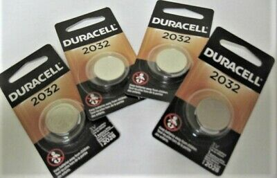 Duracell 3V DL2032 / CR2032 Lithium Battery 4 Pack Fresh Dated 2026