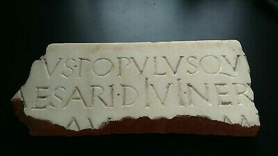 Roman Marble With Imperial Era Inscriptions