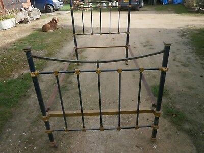Vintage metal single bed