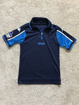 ffe173e658e7 Vintage Kappa Italy National Team Football Soccer Warm Up Jersey Small
