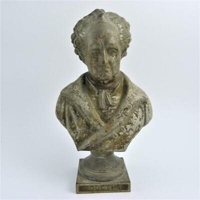 Antique Cast Iron Bust Of The Author And Poet, Johann Wolfgang Von Goethe
