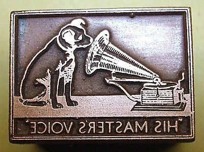 """HMV"" (His Masters Voice) ADVERT. PRINTING BLOCK."