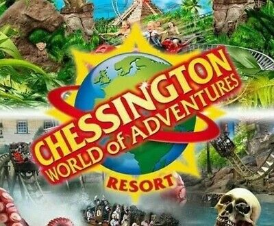 2 x CHESSINGTON ADVENTURE TICKETS. FOR FRIDAY 28TH JUNE 2019 BUY NOW £13