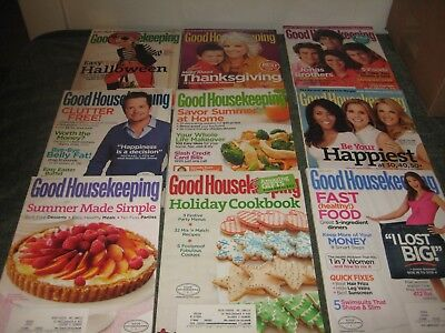 GOOD HOUSEKEEPING MAGAZINE LOT Of 9 - 2009 With December Holiday Cookbook Edit.