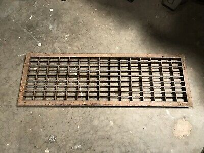 Industrial Cast Iron Air Return Grate Old