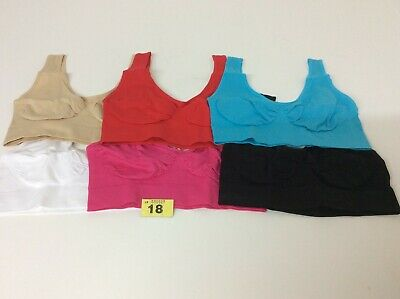 Seamless Sports Style Bra Crop Top Vest Comfort Stretch Shapewear LARGE(18+)