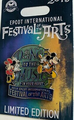 Disney Pin - Epcot Festival of the Arts 2019 - Mickey and Minnie - LE2000