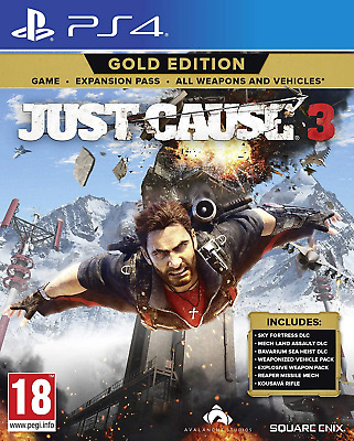 Just Cause 3 - Gold Edition PS4 (Sony PlayStation 4, 2015) Brand New/Region Free