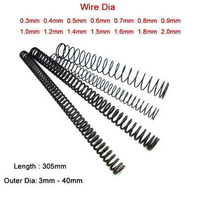Wire Dia 0.3mm - 2mm Compression Spring 65 Manganese Steel Springs Length 305mm