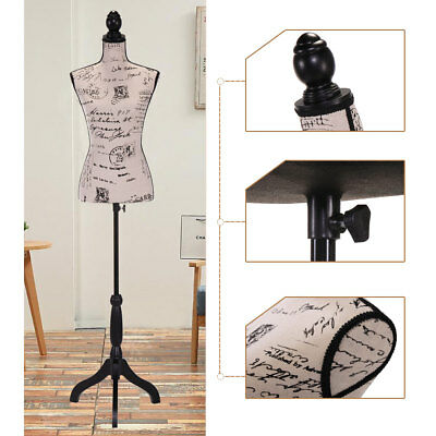 Female Mannequin Torso Clothing Dress Form Display Beige w/ Tripod Stand New