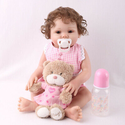 "16"" Full Body Silicone Reborn Baby Doll Anatomically Handmade Xmas Gifts Doll CA"