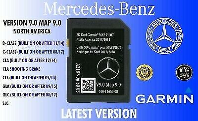 2018 2019 Mercedes-Benz SD Card GPS Navigation GLC C-Class Garmin Map Pilot V9
