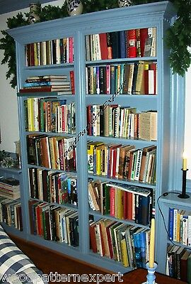 BOOKCASE Paper Plans EASY DIY PATTERNS Build Any Size Custom Bookshelf Library