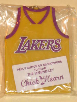 73595ca9d Chick Hearn Los Angeles Lakers Jersey Audible Keychain talking key chain  kobe LA