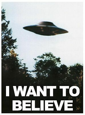 I WANT TO BELIEVE UFO TV SERIES Art Silk Poster 12x18 24x36