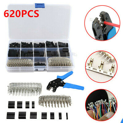 2.54mm Wire Jumper Housing Pin Connector Adapter + SN01BM Terminal Crimping Tool