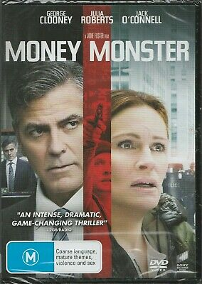 Brand New Sealed in Plastic Money Monster (DVD, 2016) Rated M Region 4 PAL