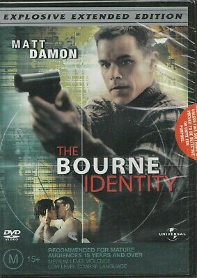 Brand New Sealed in Plastic The Bourne Identity (DVD, 2004) Rated M Region 4 PAL