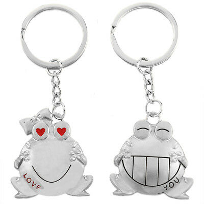 Romantic Big Mouth s Couple Keychain Metal Boy Girl Love Lovers Sweethearts V4N7